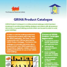GRIHA App & Product Catalogue Flyer